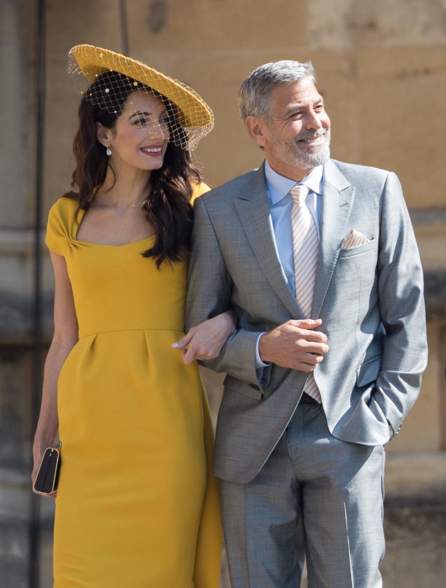メーガン妃&ヘンリー王子のロイヤルウェディングに出席したジョージ&アマル・クルーニー夫妻