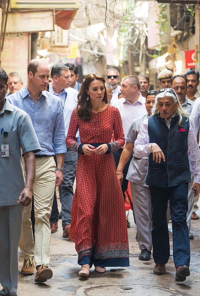 インド&ブータン訪問時のキャサリン妃