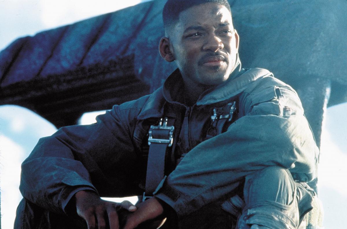 『インデペンデンス・デー』(1996) で主役を務めたウィル・スミス。Photo:Album/アフロ