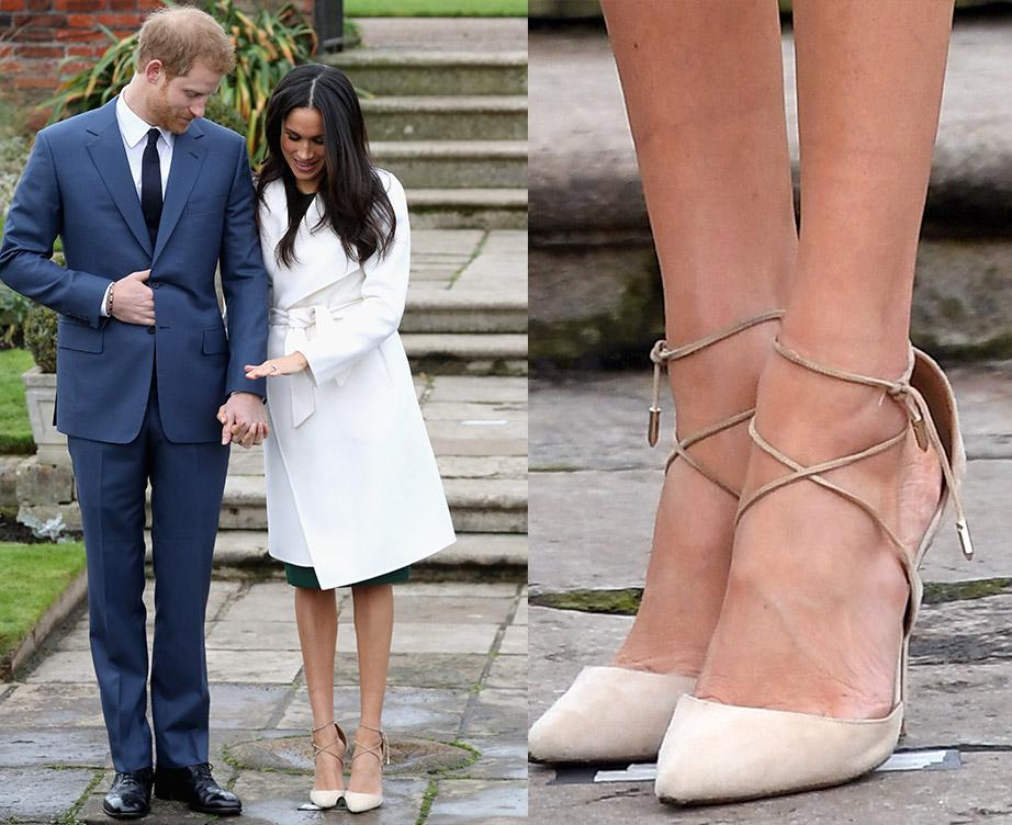 2017年11月27日、婚約を発表したメーガン妃&ヘンリー王子。フォトコールでは、生足で登場したメーガン妃に注目が集まった