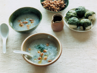 長芋と春菊のポタージュ - 今月のスープ | vol. 11