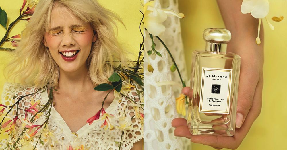 新作フレグランス「ハニーサックル & ダバナ」。英国らしい花に、ダバナ、モス、パチョリで意外性のあるひねりを加え、モダンなシプレーに仕上げられたフローラル調の香り