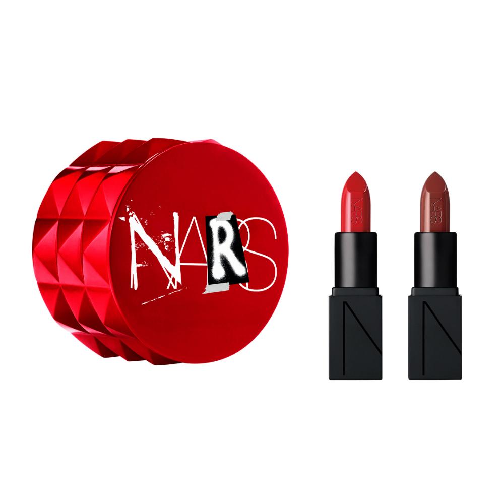 NARS リトルフェティッシュ 8379(オーデイシャスリップスティック〈ミニサイズ〉 9472、オーデイシャスリップスティック〈ミニサイズ〉 9497、スペシャルボックスつき) ¥2,900(2018年11月22日セミセルフ店舗限定発売)