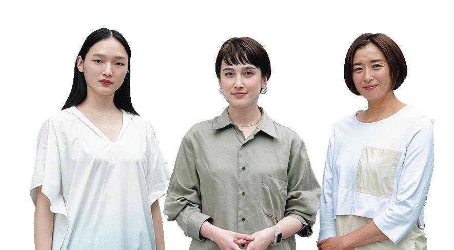 (右から)伊藤華英さん、EMILYさん、中島沙希さん