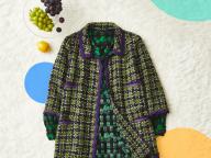 STYLE1 グリーン×パープルの新鮮な色合わせに注目