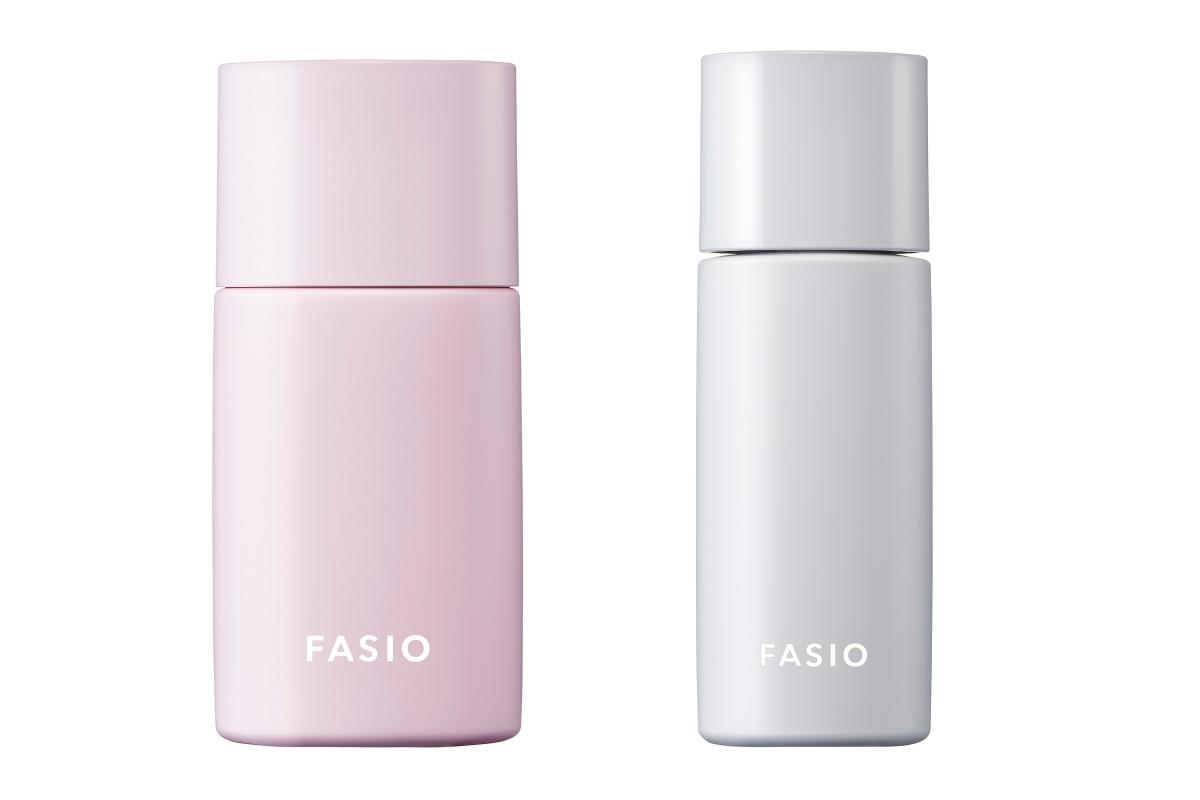 (左から)コーセー ファシオ エアリーステイ リキッド SPF30・PA+++ 全3色 各¥1,760、コーセー ファシオ エアリーステイ オイルブロッカー SPF50+・PA++++ ¥1,100(共に編集部調べ・2021年5月16日発売)