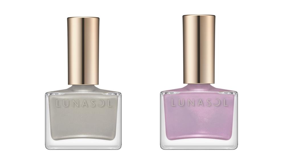 カネボウ化粧品 ルナソル ネイルポリッシュ 左から/EX15、EX16 ¥2,200(2021年9月17日限定発売)