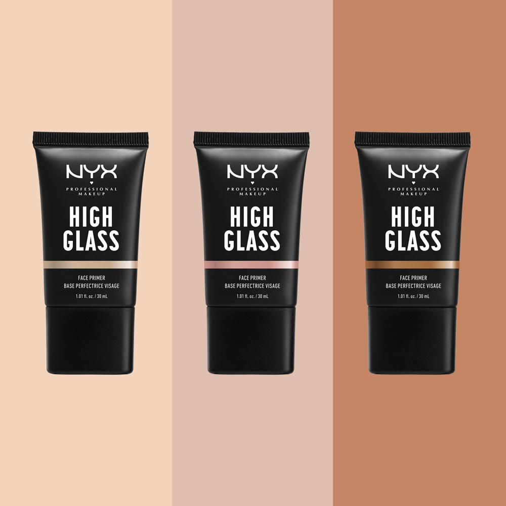 NYX Professional Makeup ハイグラス フェイスプライマー 全3色 ¥1,800(2020年3月26日発売)