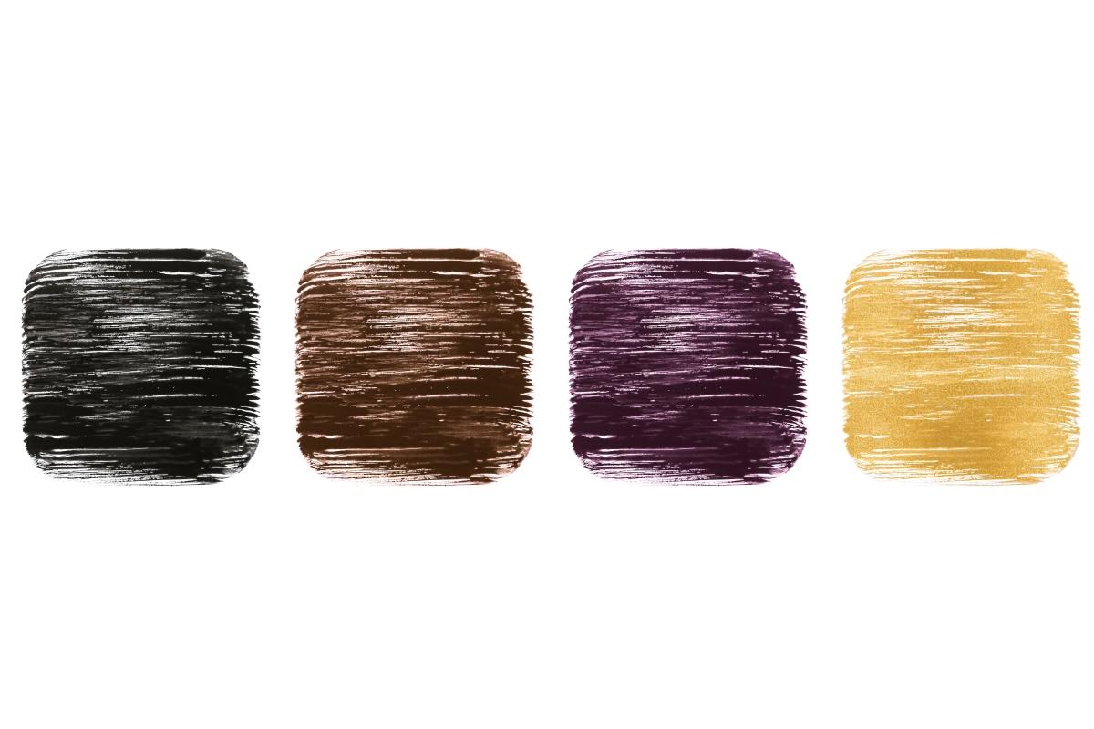 左から/NERO SICILIA、SENSUAL WOOD、PASSIONATE DAHLIA、DIVINE GOLD