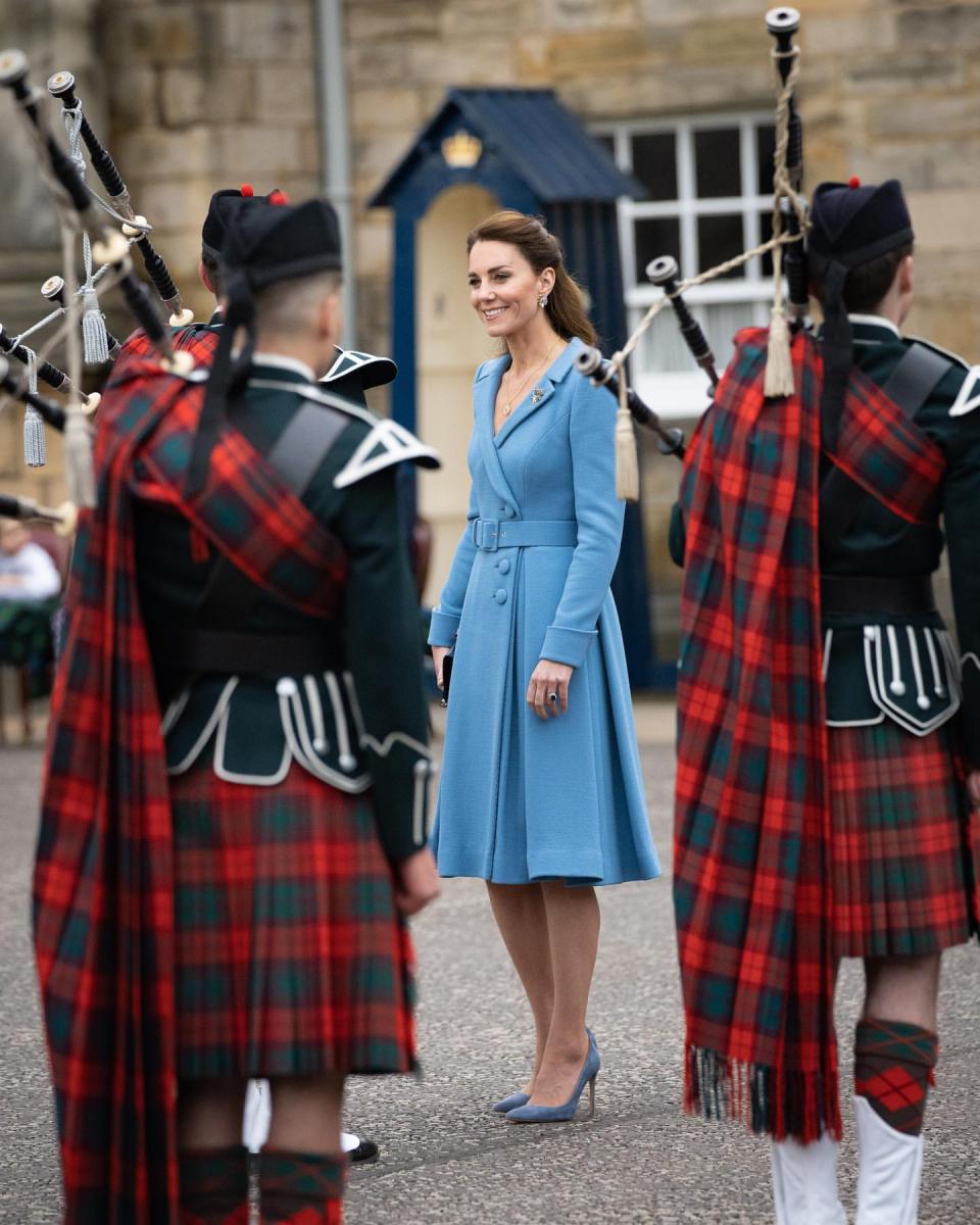 スコットランド訪問最終日には近衛兵音楽隊による伝統行事を見学。