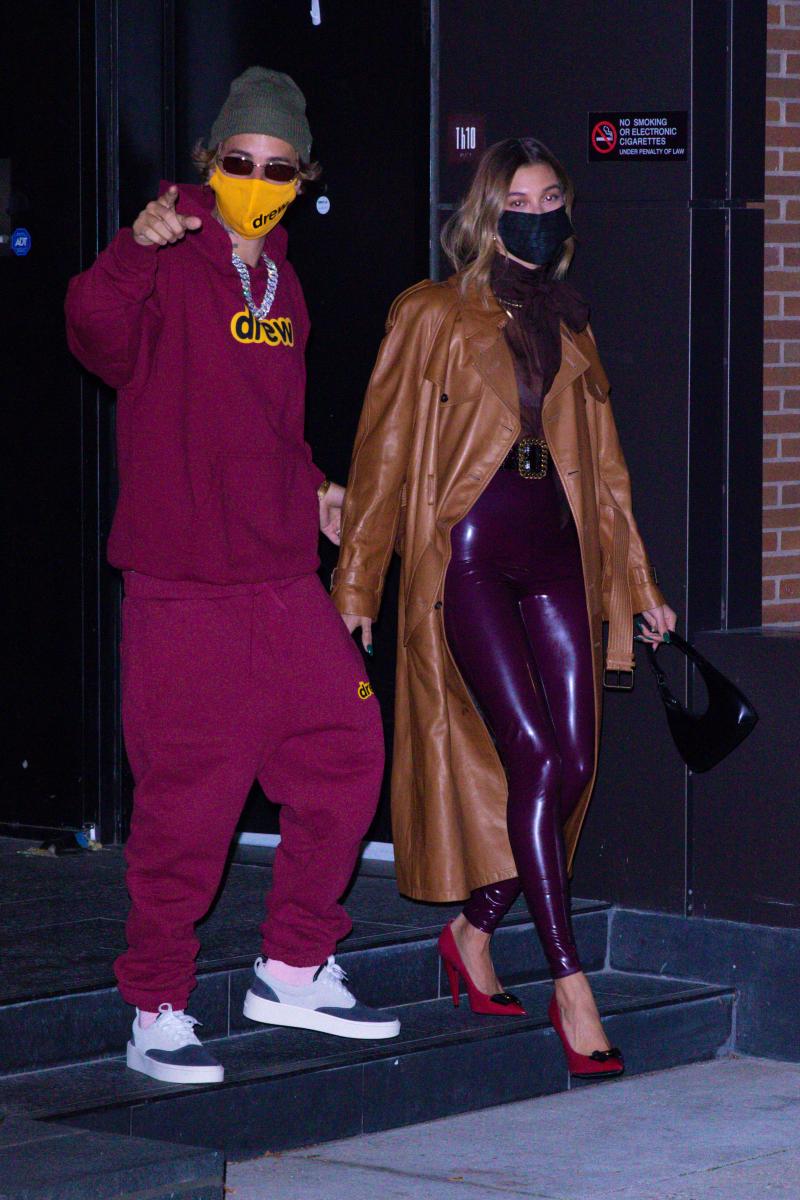 テレビ番組出演のためニューヨークを訪れたジャスティンとヘイリー。Photo:Splash/アフロ