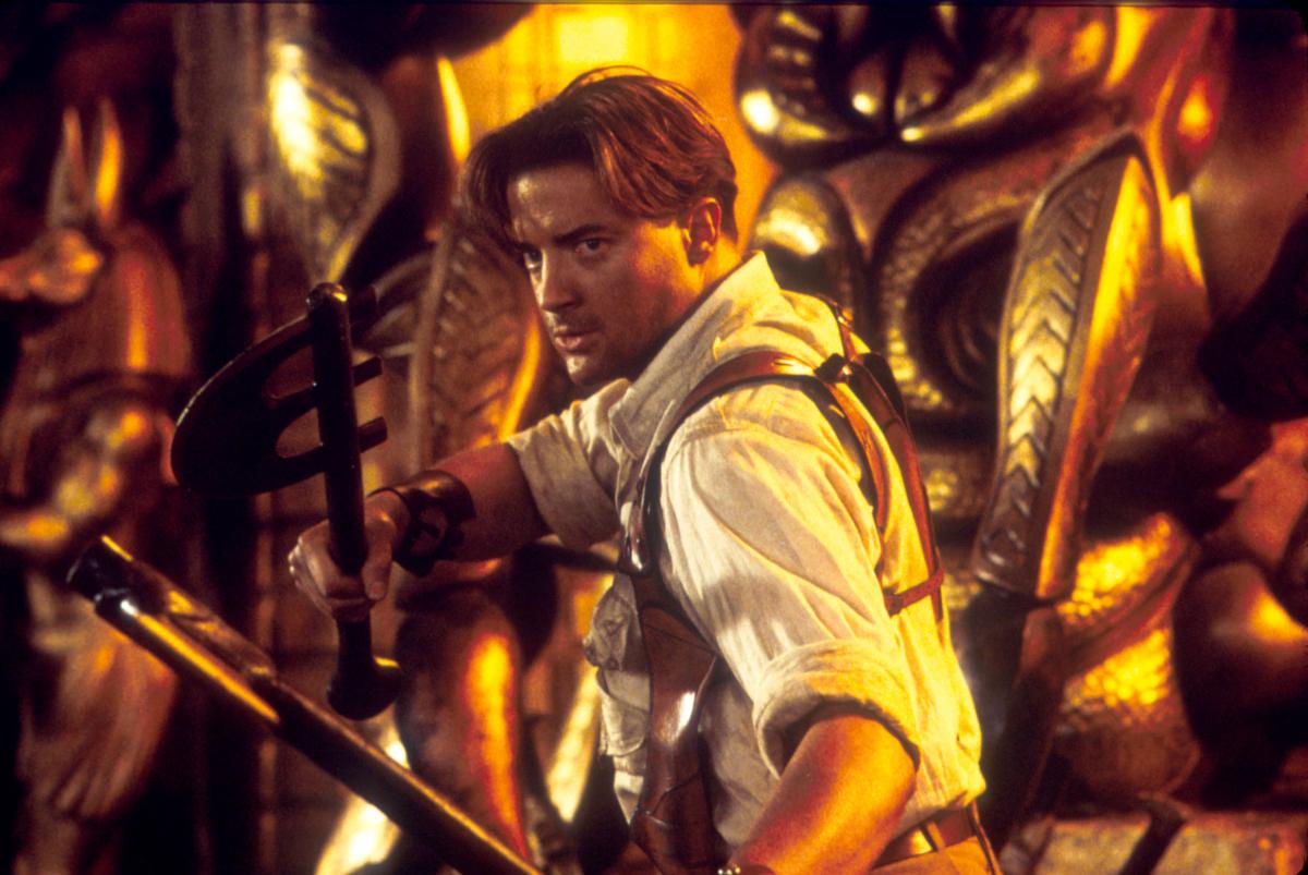『ハムナプトラ』シリーズでのイケメンなブレンダン。Photo:Keith Hamshere/Universal Studios