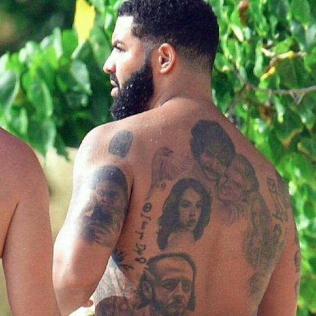 ドレイクの背中を覆い尽くすタトゥーにファン騒然! 「ズーム会議みたい」など突っ込みが続出 - セレブニュース | SPUR