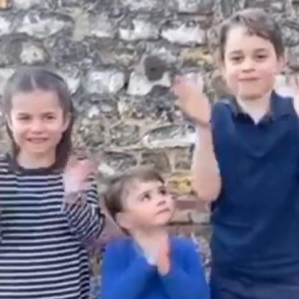 もうすぐ2歳のルイ王子も懸命に拍手!英ロイヤルキッズ3人が、医療従事者に感謝を捧げる動画に出演 - セレブニュース   SPUR
