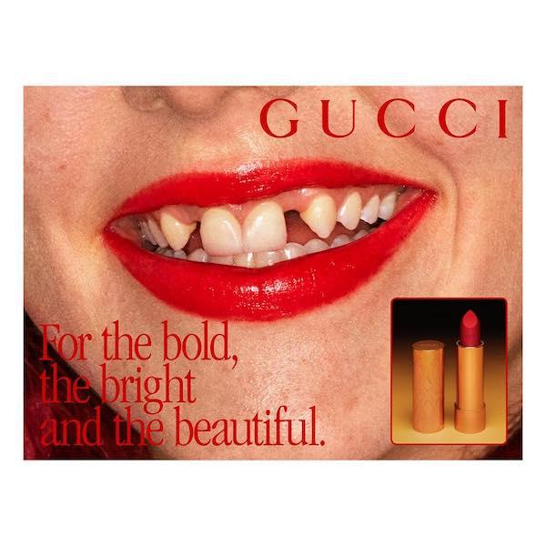 リップの広角にすきっ歯のパンクロッカーを起用して話題になった「GUCCI Beauty」。Photo:Instagram@guccibeauty
