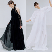 ブラック&ホワイトのドレス