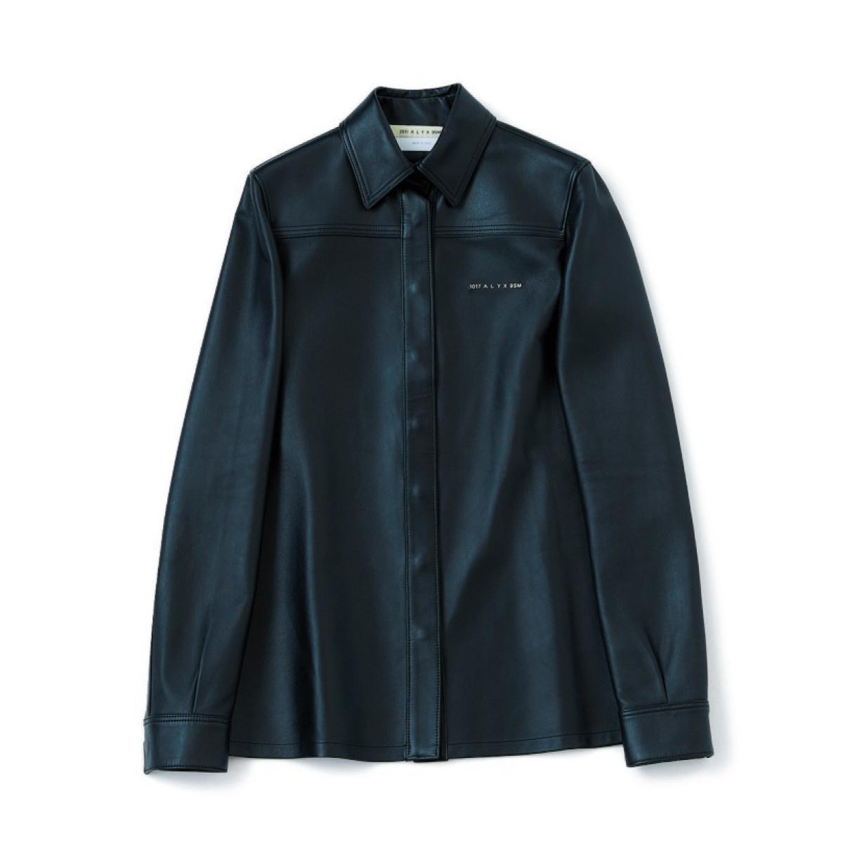 1017 アリクス 9エスエム「レザーシャツ」
