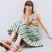 フラワープリントのドレス
