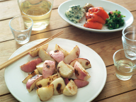 焼きかぶの温サラダと吟醸酒 - 金曜日のアペロ No.12
