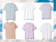 爽やかなホワイト&ペールトーンのTシャツ