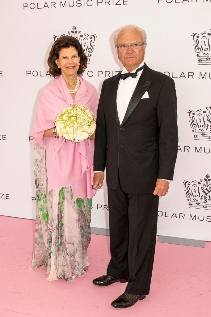 カール・グスタフ国王と、妻のシルヴィア王妃。Photo : Getty Images