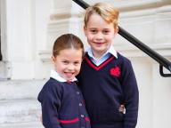 シャーロット王女、小学校デビュー! ジョージ王子とおそろいの制服姿で一家仲良く初登校