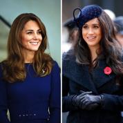 ネイビーかぶり! キャサリン妃&メーガン妃、異なる魅力の公務ファッションがまたも話題に