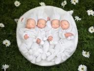 話題沸騰中!かわいすぎる四つ子ベビーの写真に悶絶必至