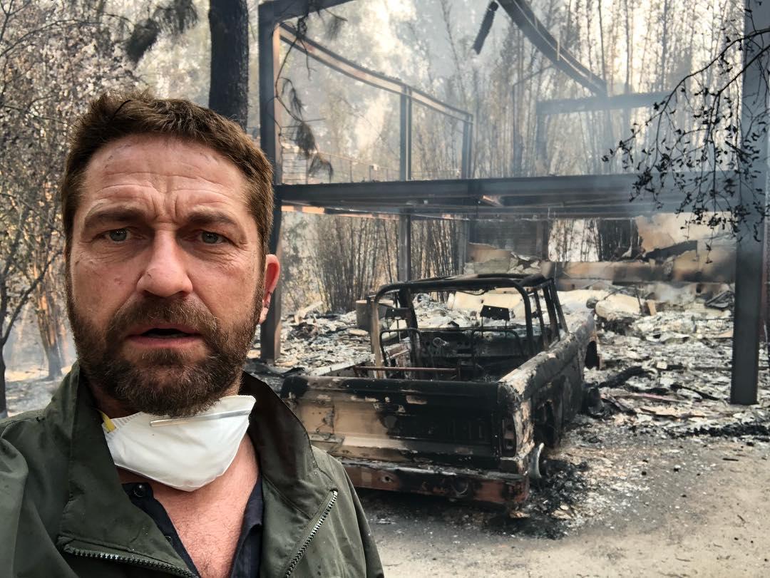 ③ジェラルド・バトラーらの自宅写真に言葉を失う! カリフォルニアの山火事で多くのセレブが被害に