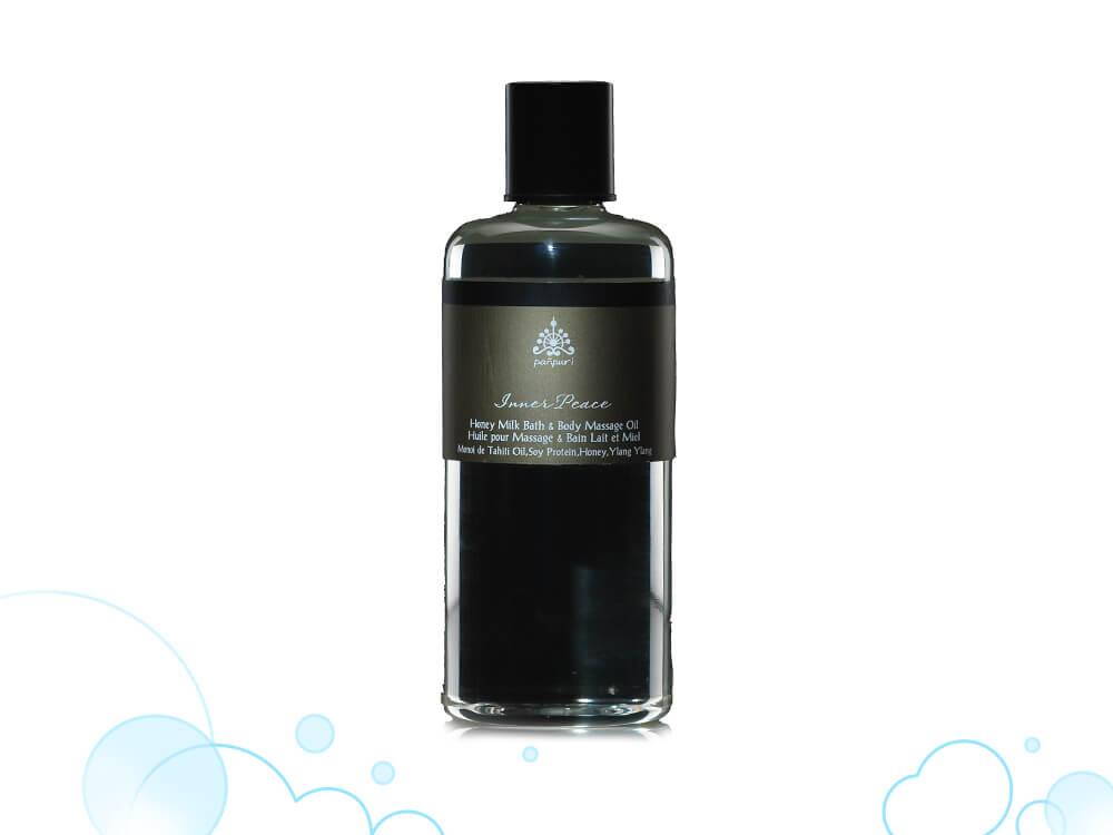 【+massage oil】軽めのオイルでリンパマッサージも!