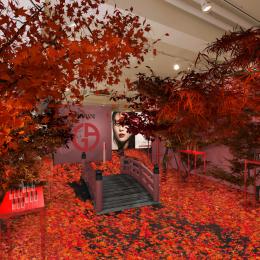 紅葉と新コレクションを楽しめる期間限定ストア、「アルマーニ ビューティ KOYO」が神宮前に登場!