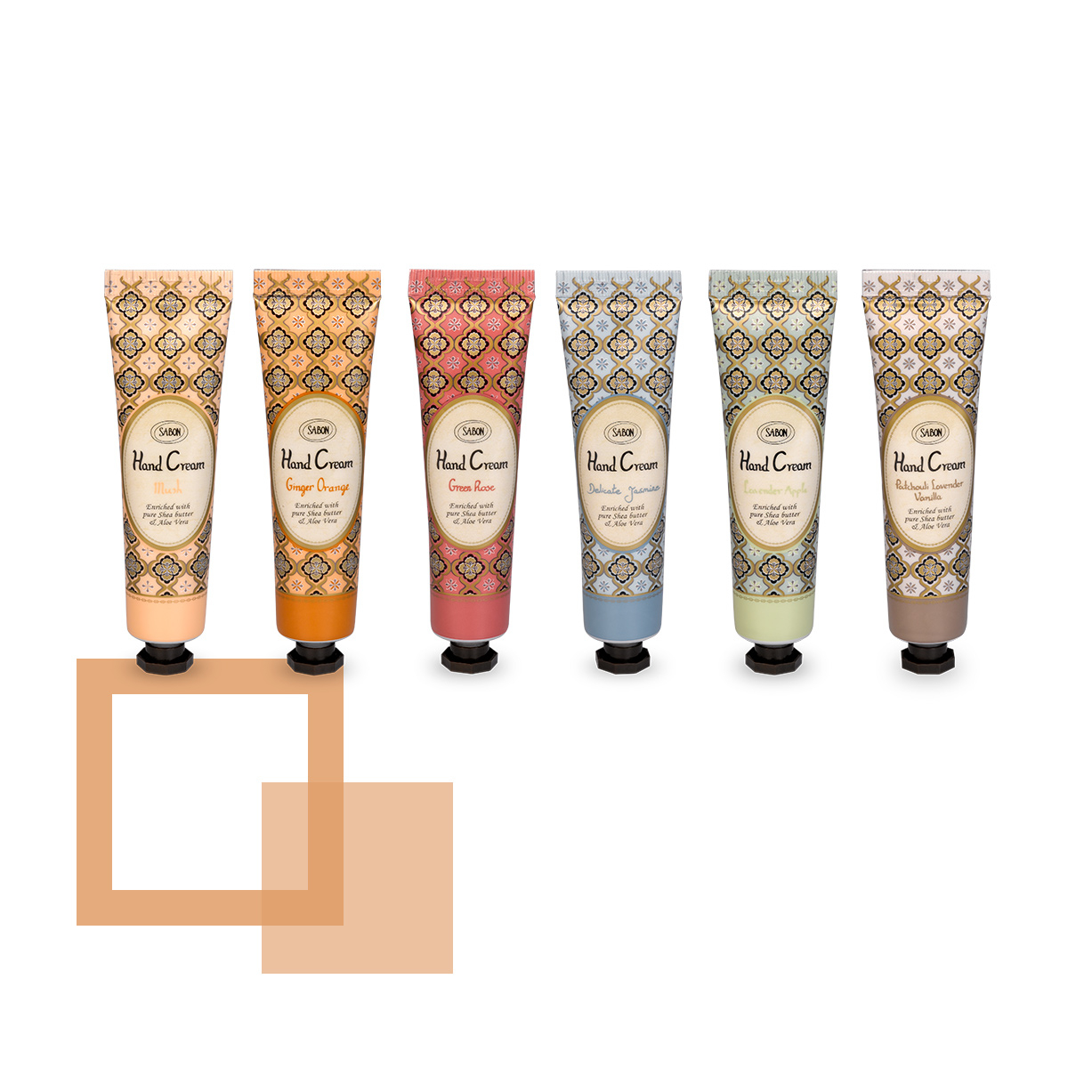 【モバイル】ギフトにぴったりな香り違いの6種類/SABON ハンドクリーム