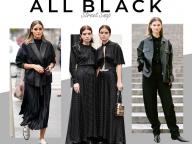 【オールブラック】いつの時代も新しい色、黒で全身を揃えて
