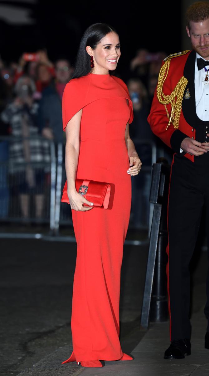 2020年3月7日(現地時間)、ヘンリー王子と揃ってマウントバッテン音楽祭に出席したメーガン妃。