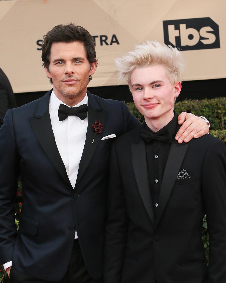 【ジェームズ&ジャック・マースデン】『X-MEN』シリーズのサイクロップス役でお馴染みのジェームズ(46)。そんな彼の少年期!?とも思えるのが、隣に立つ息子のジャック(17)。現在はモデルとして活躍中で、今もっとも注目される2世メンズセレブのひとり。
