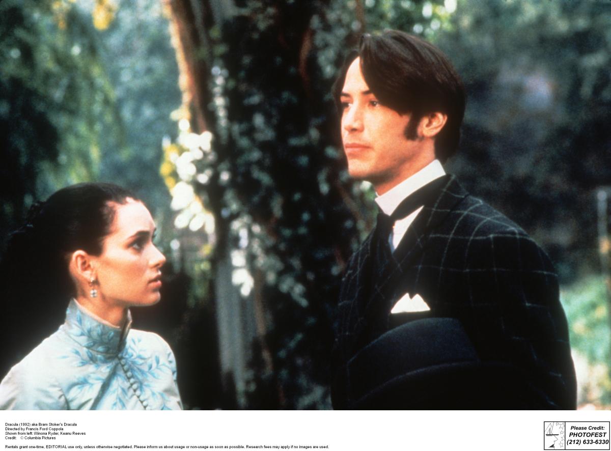 映画『ドラキュラ』(1992年)当時の若かりし頃のキアヌ。
