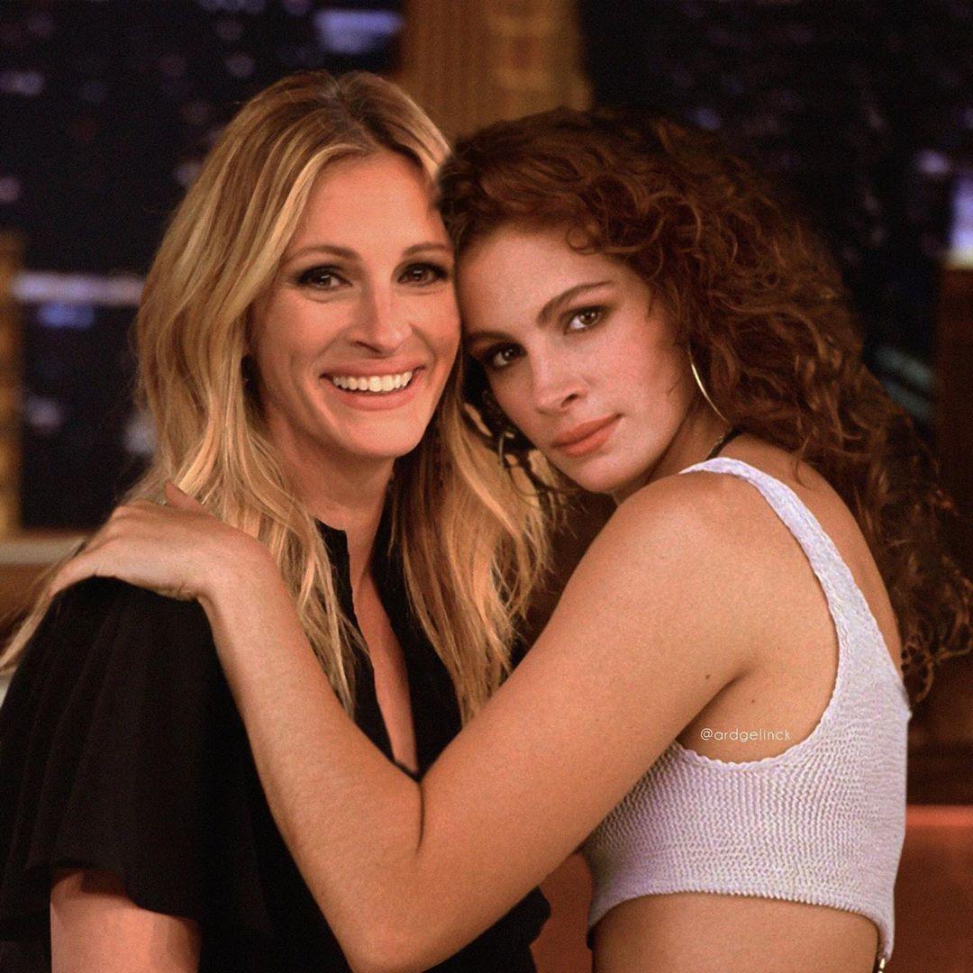 映画『プリティ・ウーマン』に出演した23歳のジュリアと52歳のジュリアのツーショット!?