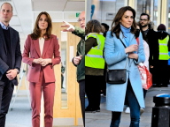 キャサリン妃はパステルカラーに夢中! スペイン王室レティシア妃とお揃いのピンクスーツで救急コールセンターを視察