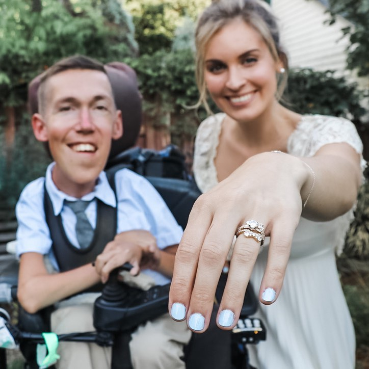 9月4日に結婚したことを発表したショーン。