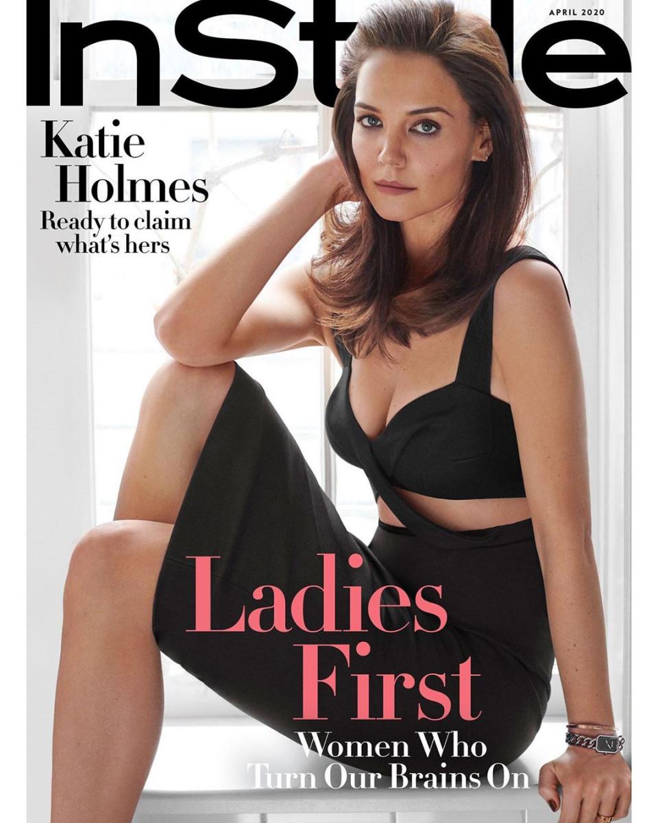 2020年3月、雑誌『インスタイル』の表紙を飾ったケイティ。インタビューで子育てについて語った。