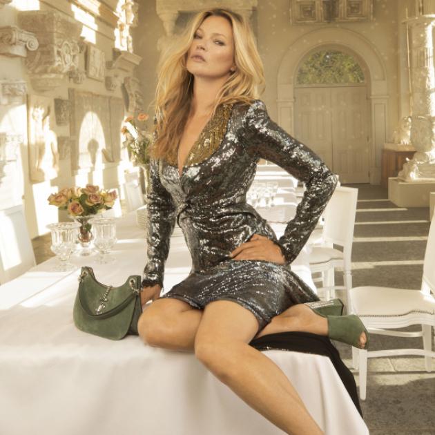 「ボヘミアン・グラマーの女王」ケイト・モスが、ジミーチュウのエディトリアル・シリーズに登場!