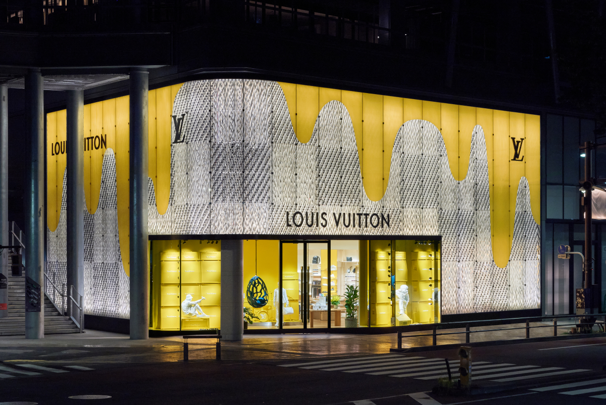ルイ・ヴィトン 渋谷メンズ店の外観。