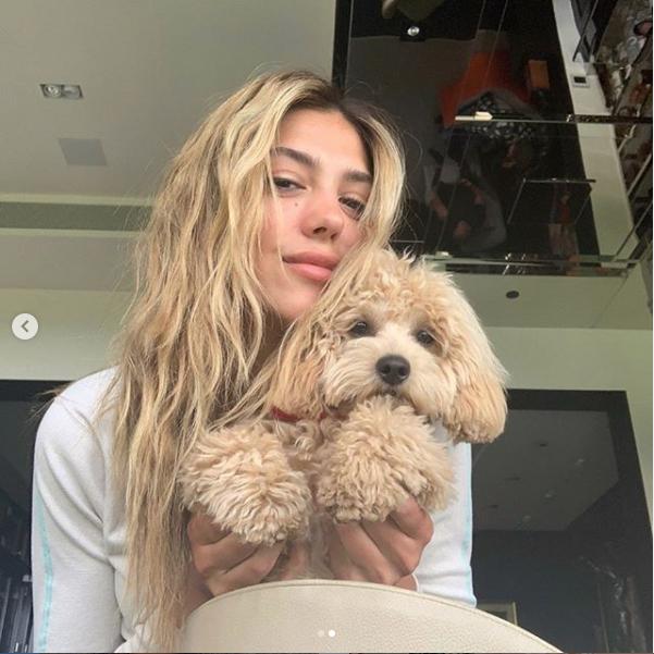 愛犬と髪色がマッチ! システィーンのおうち時間