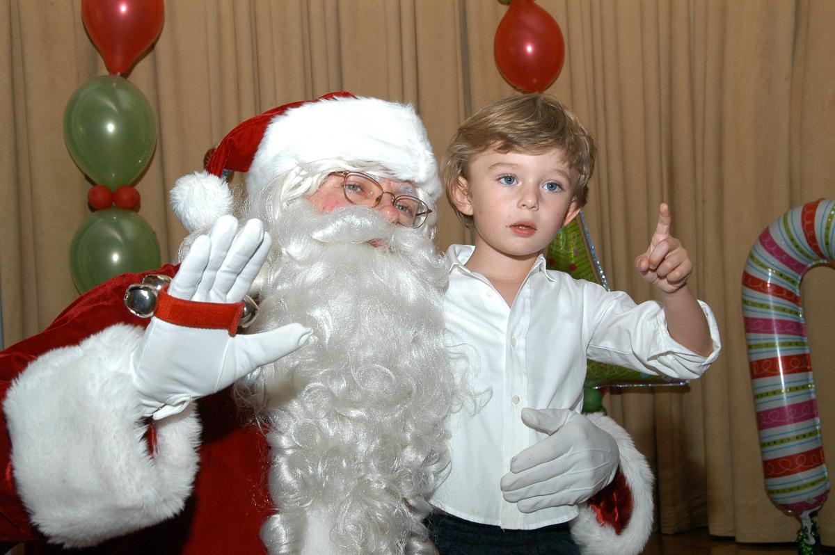 【2008年12月25日】サンタクロースとの特別なツーショット!