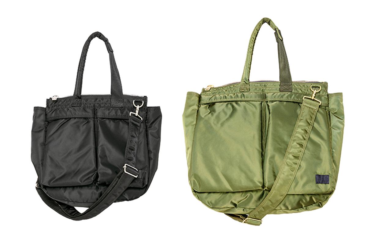 (左より)トートバッグ ミディアム ¥54,000、同 ラージ ¥63,000/sacai(サカイ × ポーター)