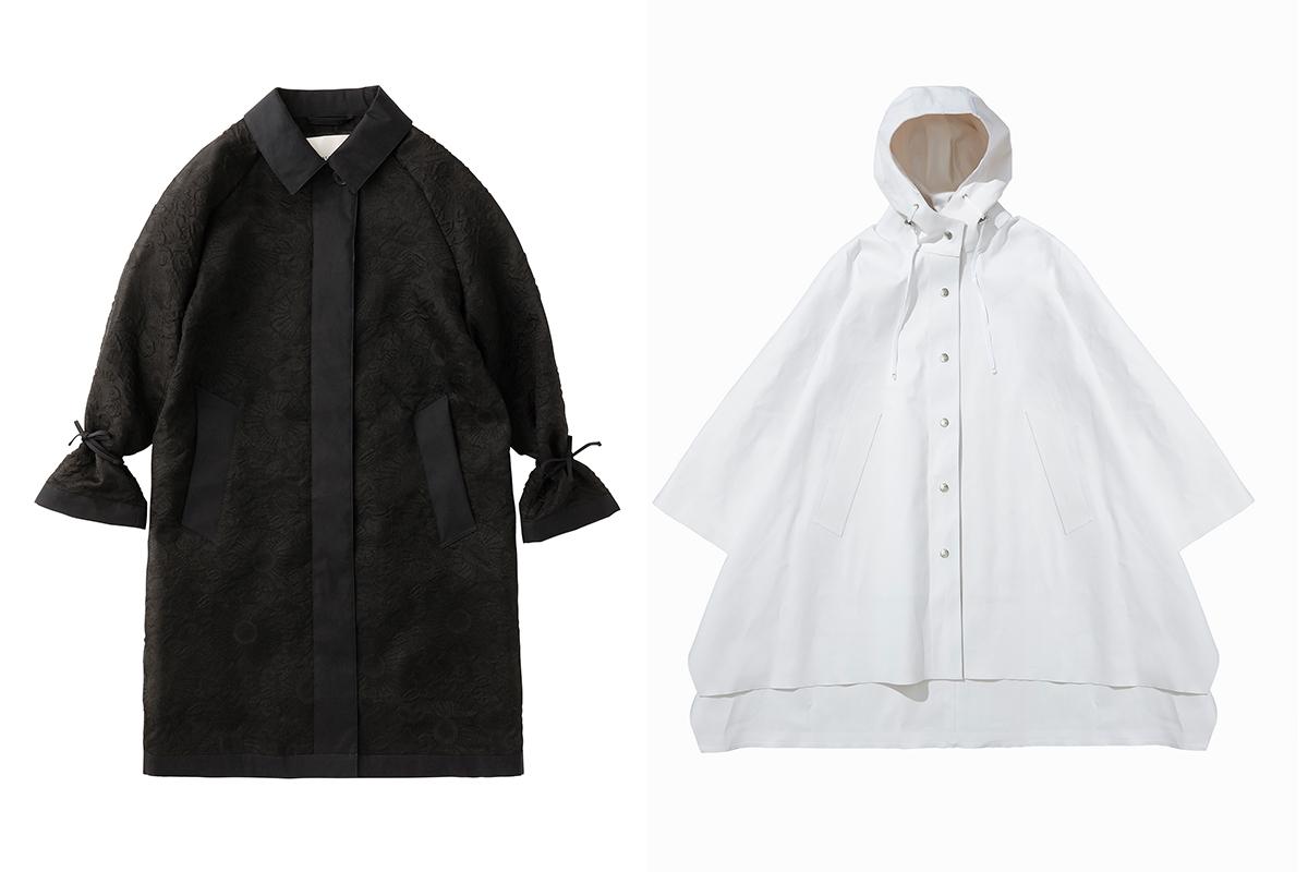 (左から)LINDA COAT ¥305,500、LYLOU CAPE ¥367,000/セシリー バンセン クラフテッド バイ マッキントッシュ