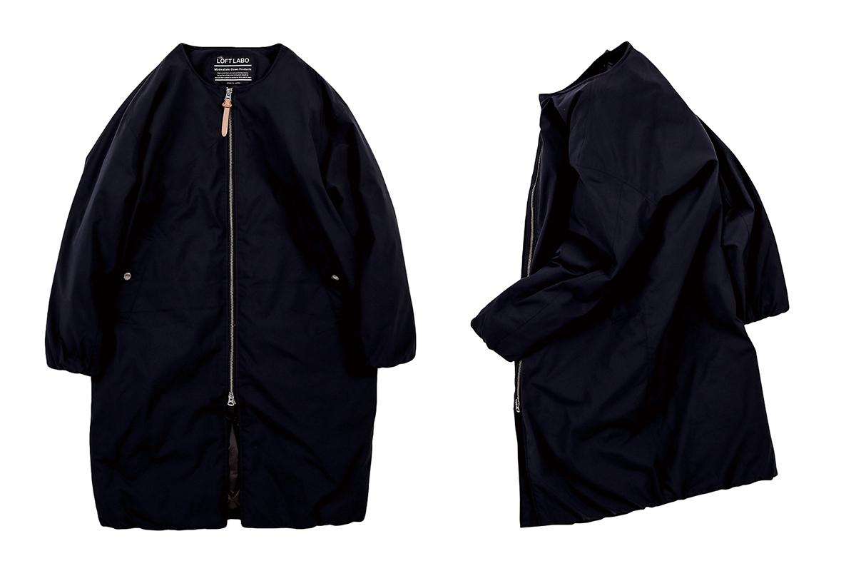 ANDY/NO COLLAR DOWN COAT ¥59,000/ロフトラボ