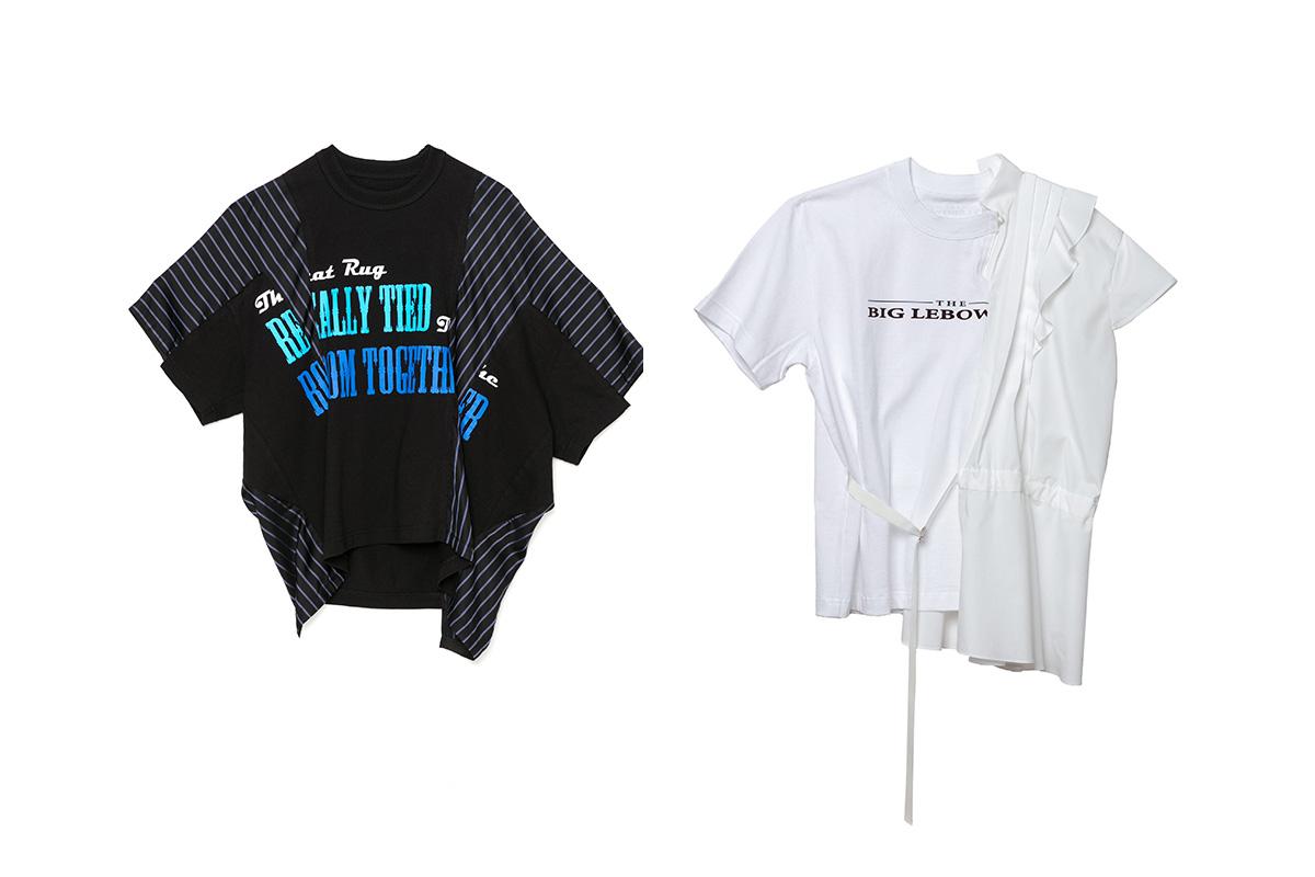 (左より)Tシャツ ¥69,000/sacai(サカイ x ビッグ・リボウスキ)