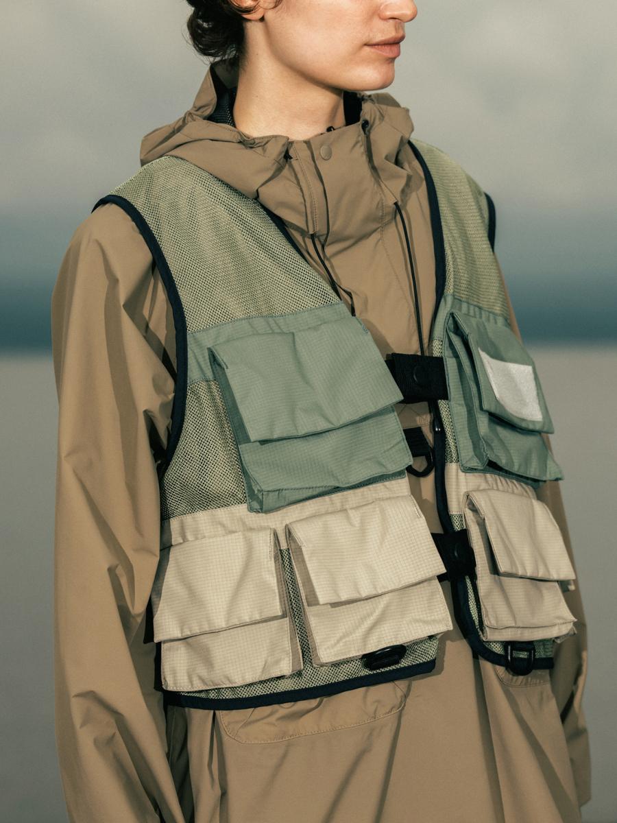 Snow Peak×TDS eVent Fishing Vest ¥65,000/スノーピーク × 東京デザインスタジオ ニューバランス ニオビウム カプセルコレクション
