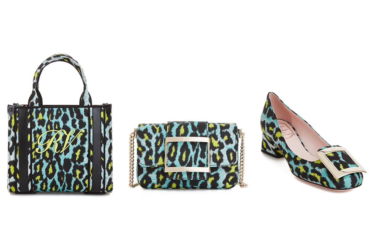 (右から)「コールミー ヴィヴショップ」バッグ ¥,000、「トレヴィヴィエ」バッグ ¥,000、同パンプス ¥,000/ロジェ・ヴィヴィエ・ジャパン